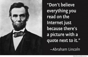 lincoln quote internet