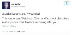 racist tweet obama killing war