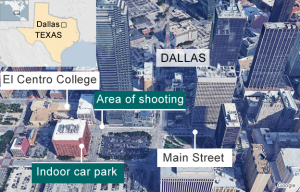 dallas police shooting map