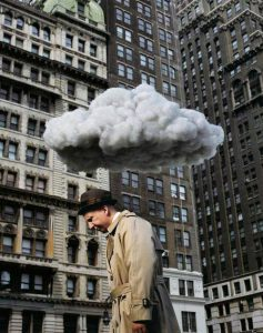 cloud above head sad