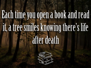 read a book a tree smiles life after death