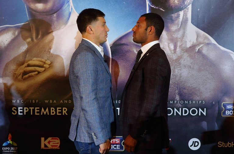 ggg, Kell brook, suit, boxing