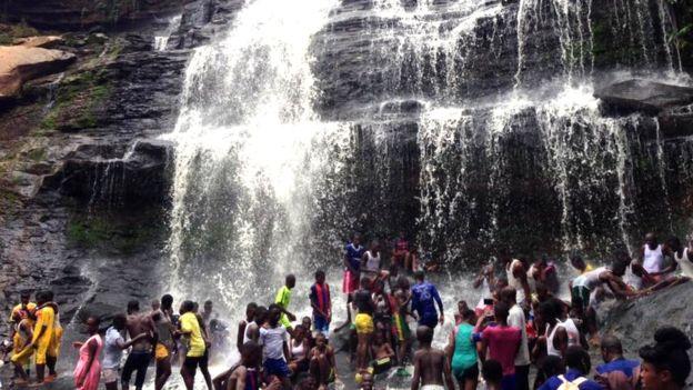 ghana, waterfall, african waterfall,