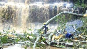 waterfall, ghana