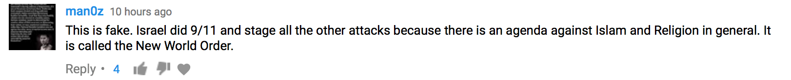 youtube comments, racist comments, terrorism comments,
