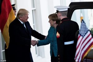 angela merkel donald trump hanshake, handshake, germany, german leader, american leader, donald trump
