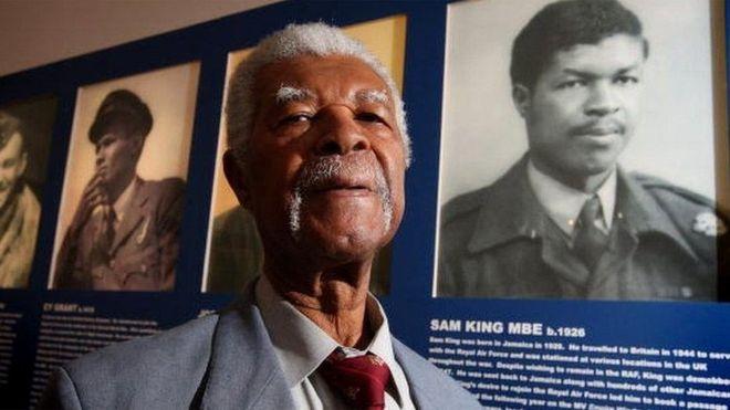 Black hero, Caribbean hero, west indian hero, mbe, war hero, fighter, jamaican man, old black man, old jamaican man