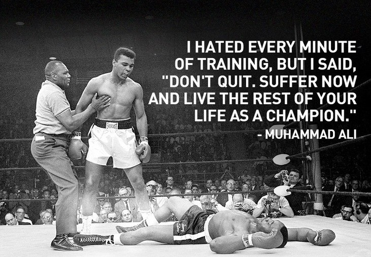 Training, Muhammad Ali, Quote on training, quote on fitness, Muhammad Ali quotes, Boxing, Fighting, Knockout, black man, black boxer