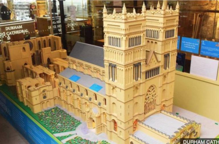 lego, building, lego building, durham cathedral,