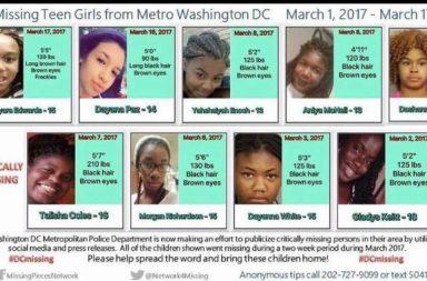 Missing African Americans, Missing children, missing children DC