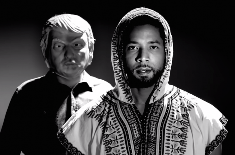 donald trump music video, jussie smollet, woke,