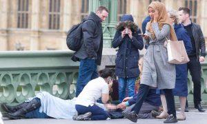 Muslim woman, crying muslim woman, upset woman, westminster bridge, terror attack