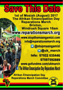 Reparations march, stop the, african slavery, slavery march
