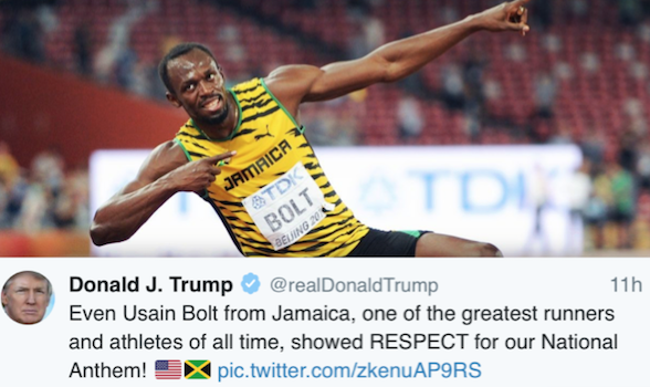 Usain bolt donald trump tweet, donald trump, nfl protest, jamaica