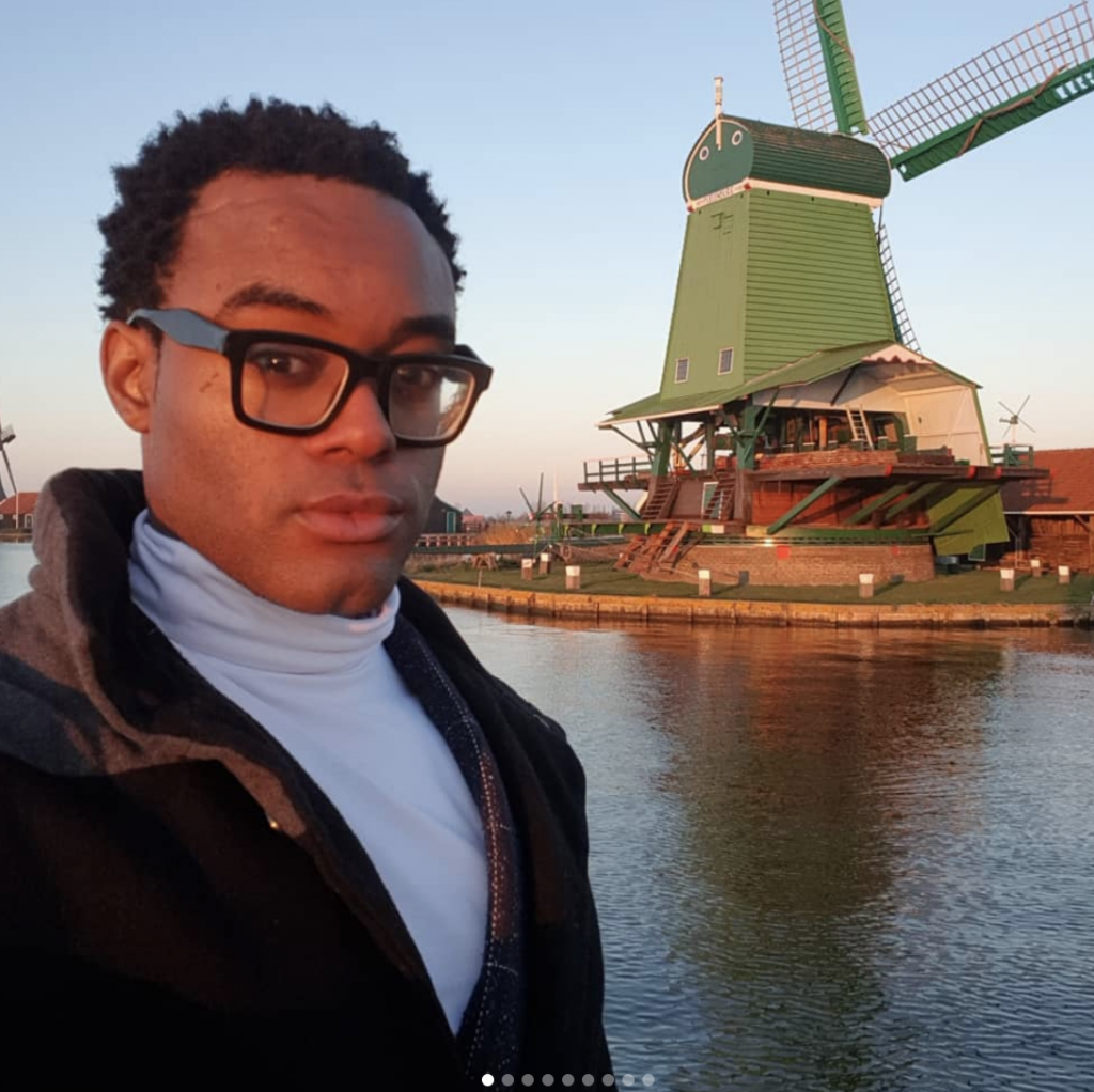 Windmill, black man, Black man in glasses,